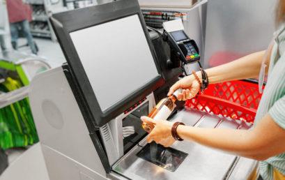 Comptoir de caisse pour l'agencement de magasin